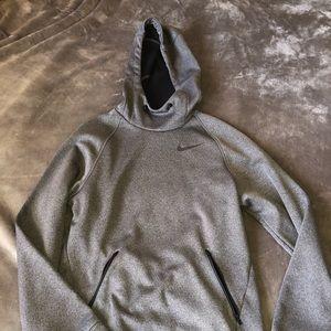grey men's nike hoodie